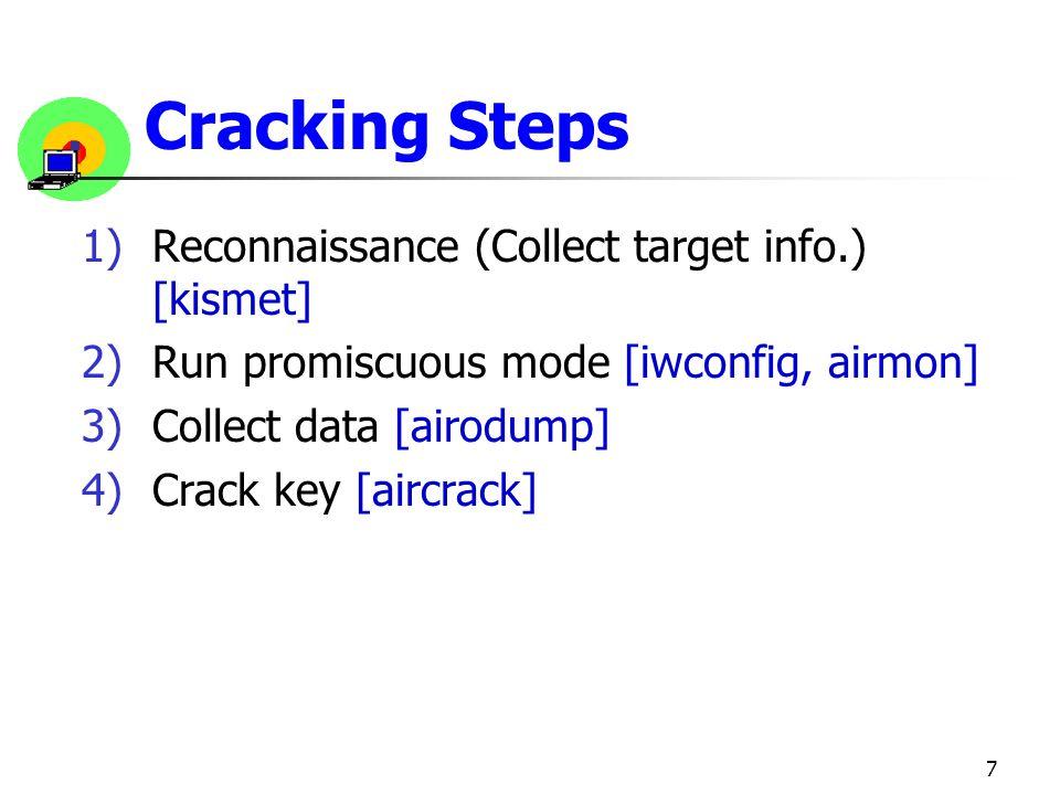 Cracking Steps Reconnaissance (Collect target info.) [kismet]